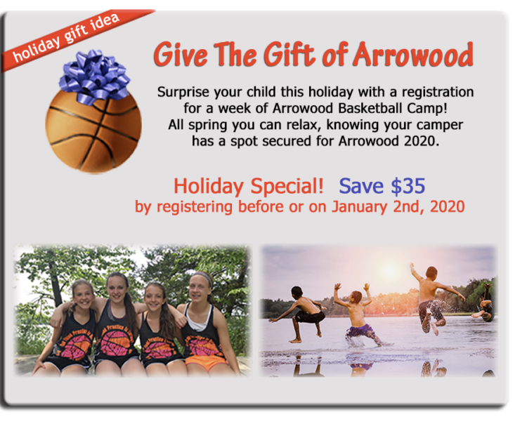 Camp Arrowood Holiday Discount
