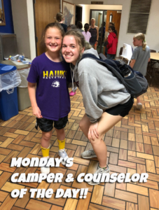 CamperCounselor ofTheDay MON